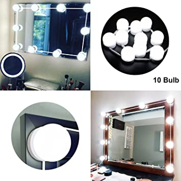 Led Vanity Mirror Lights Kit With Dimmable Light Bulbs Led Mirror