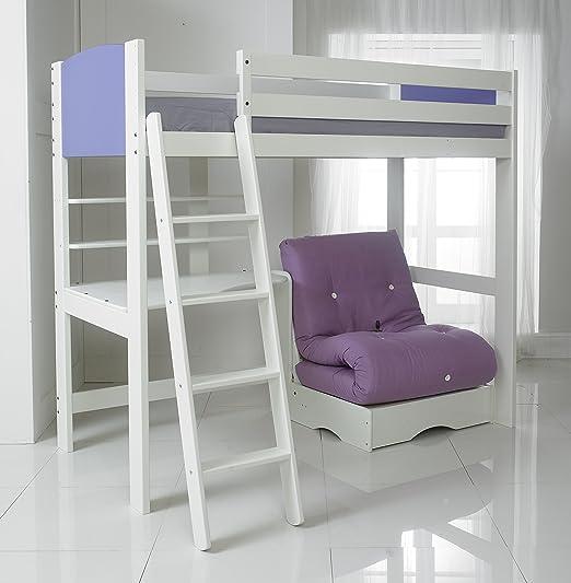 Morado de alta de dormir cama para futón, escritorio con 2 ...