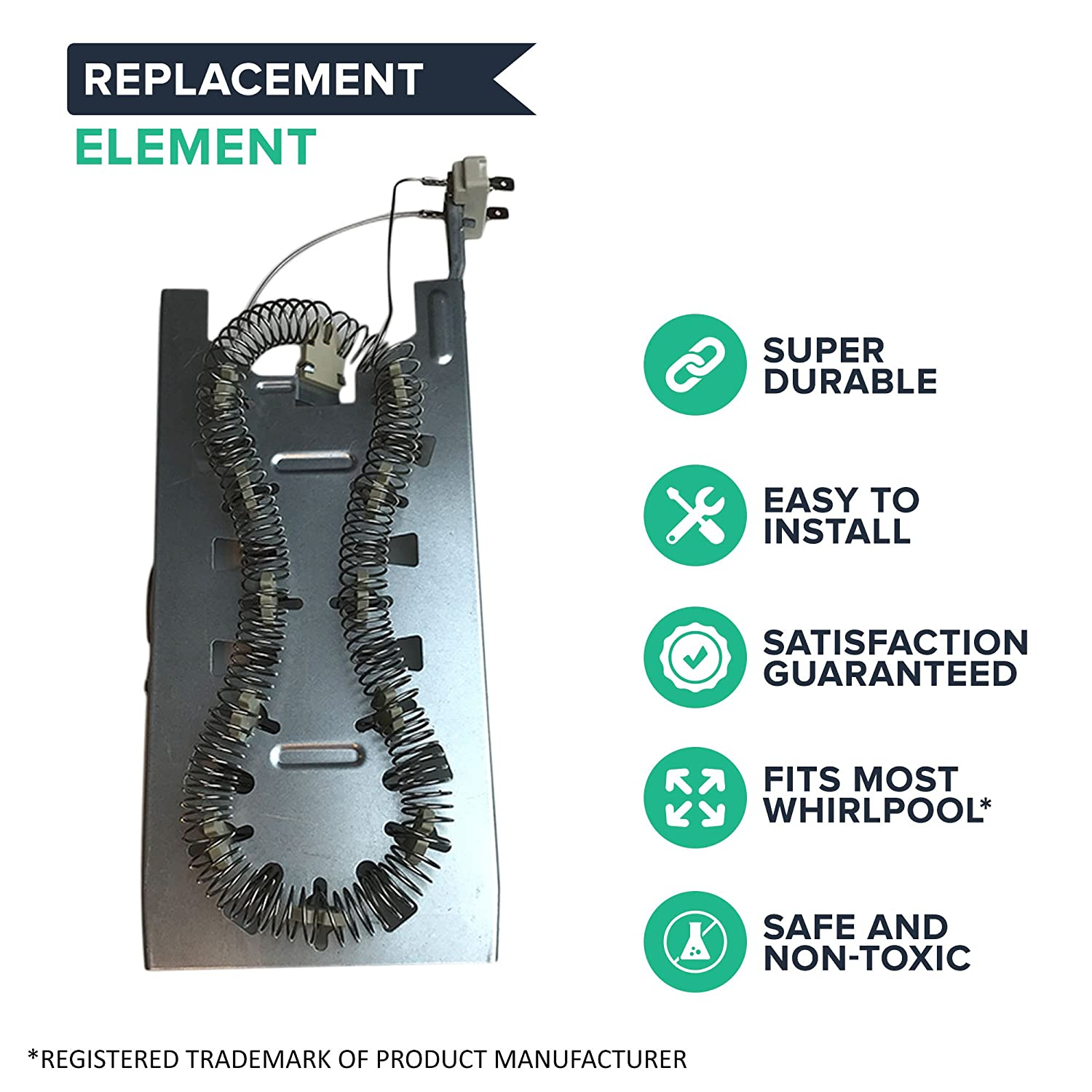 Amazon.com: Think Crucial Replacement for Whirlpool Dryer Heating Element  Fits Amana, KitchenAid & Maytag Dryers, Compatible With Part # 3387747,  8527865, ...