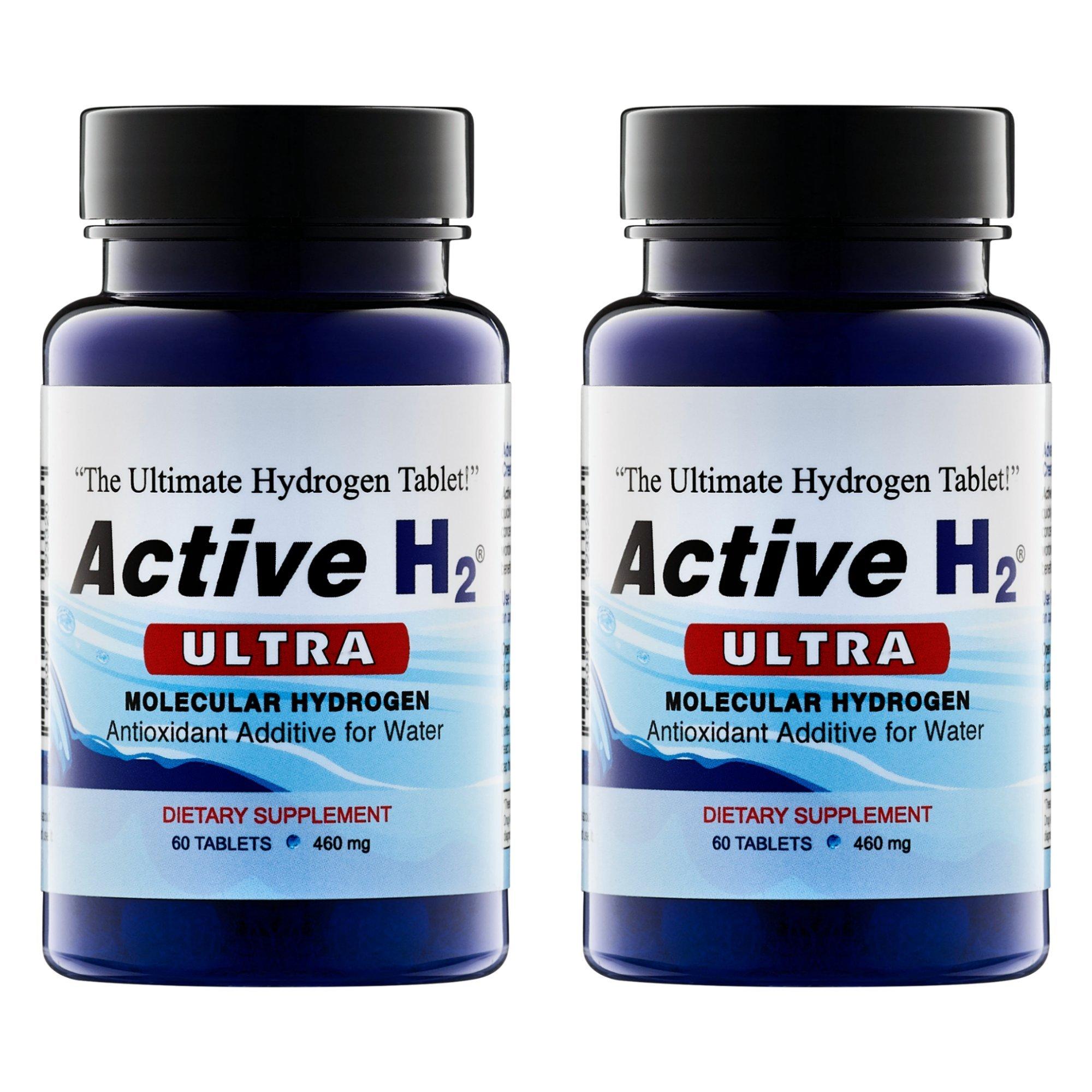 2 Pack Bundle of Active H H2 Molecular Hydrogen Tablets 120 Tablets