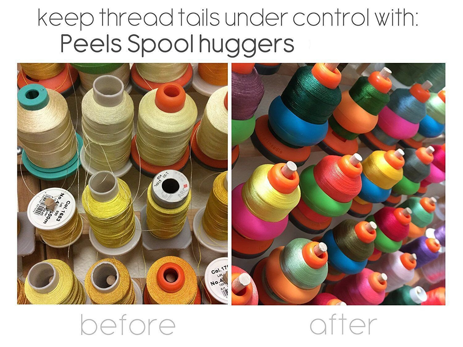 New Brothread 20pcs Thread Spool Huggers Prevent Thread Tails from Unwinding No Loose Ends for Sewing and Embroidery Machine Thread Spools