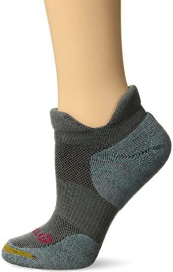 43aa4856b2 Merrell Women's 1 Pack Performance Dual Tab Trail Runner Socks, charcoal,  Shoe Size: 4-9.5