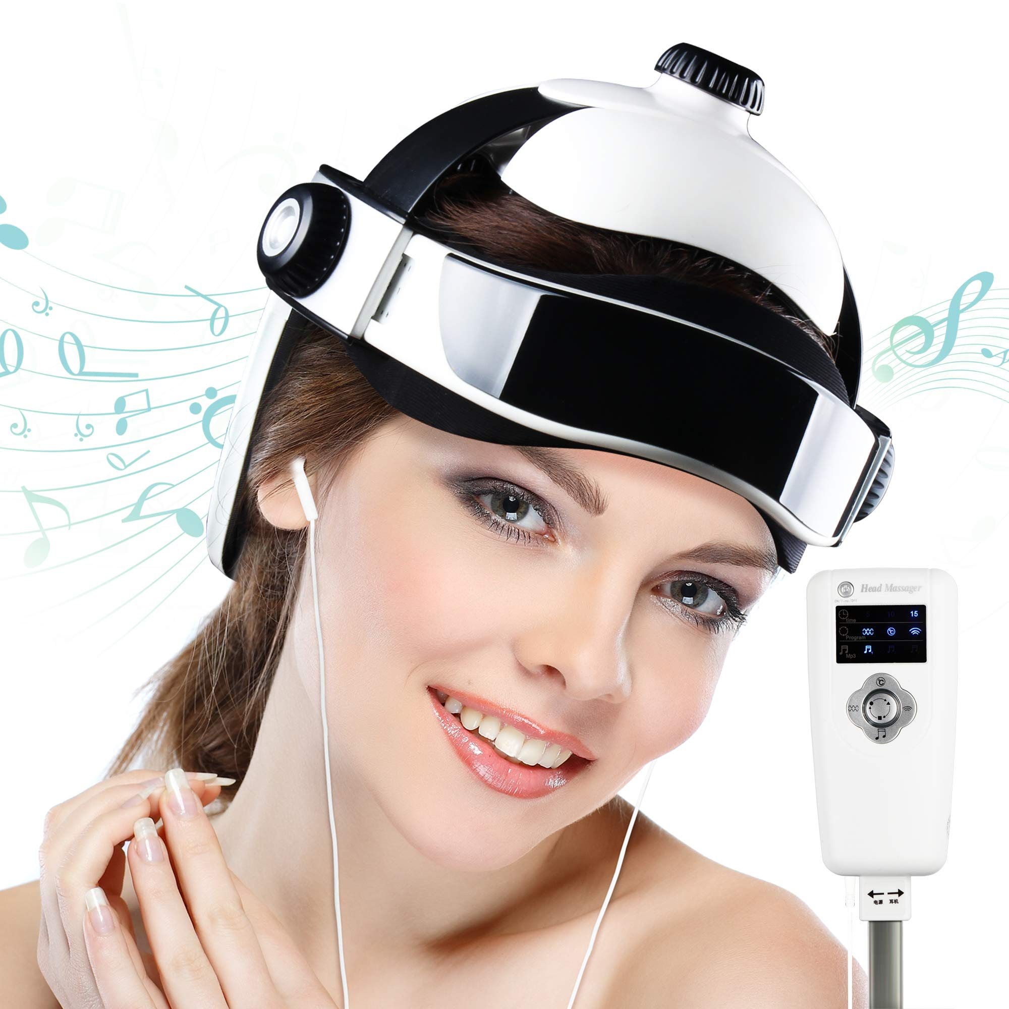 REAQER Electric Head Massager Multifunctional Massage Helmet with Soothing Music and Air Pressure to Relax and Relieve The Headache by REAQER (Image #1)