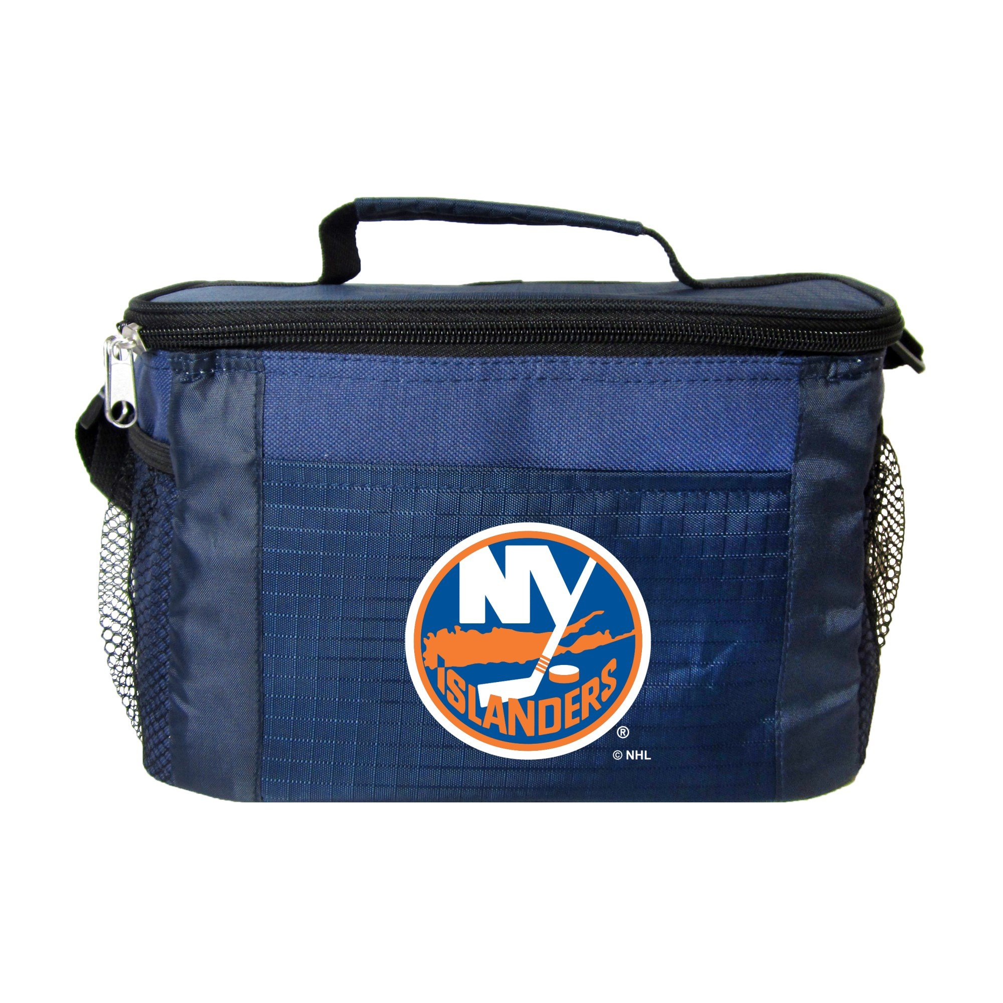 NHL New York Islanders Insulated Lunch Cooler Bag with Zipper Closure, Navy