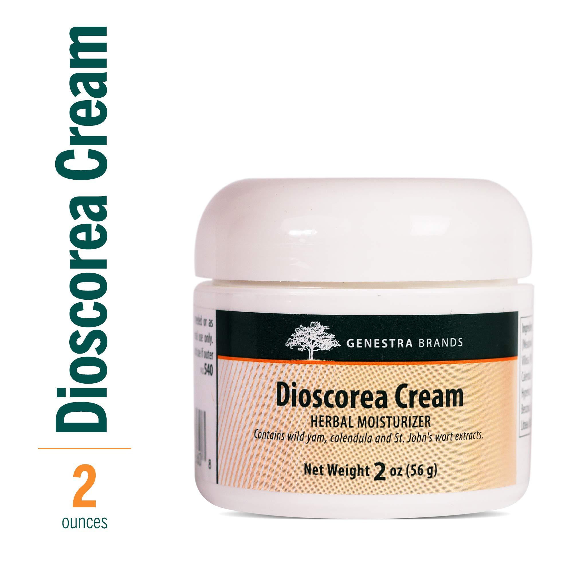 Genestra Brands - Dioscorea Cream - Herbal Moisturizer with Wild Yam, Calendula and St. John's Wort Extracts - 2 oz (56 g)