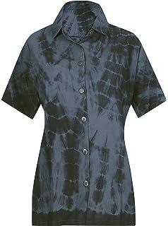 LA LEELA Damen-Bademode Shirt leichte gekn/öpftem Kragen Kurze /Ärmel