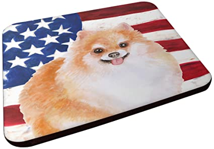 Carolines Treasures BB9716FC Pomeranian #2 Patriotic Decorative coasters Multicolor