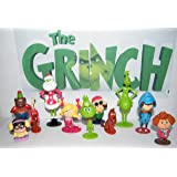 The Grinch Movie Deluxe Party Favors Goody Bag Fillers Set of 14 with 12 Figures Featuring Classic and New Characters and a Special Notebook and Eraser!