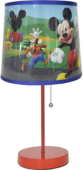 Amazon.com: Lámpara de mesa Disney, Mickey Mouse, Rojo: Toys ...