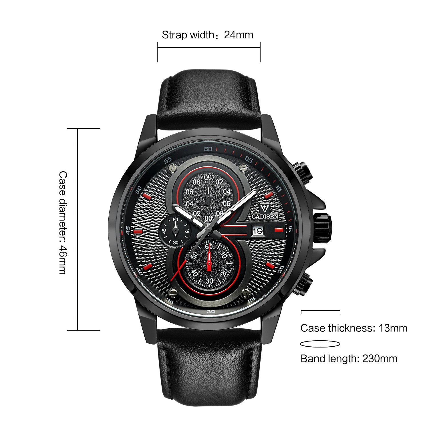 Amazon.com: Military Watches Men Business Watches Waterproof Sports Analog Quartz Watch Military Chronograph: Watches