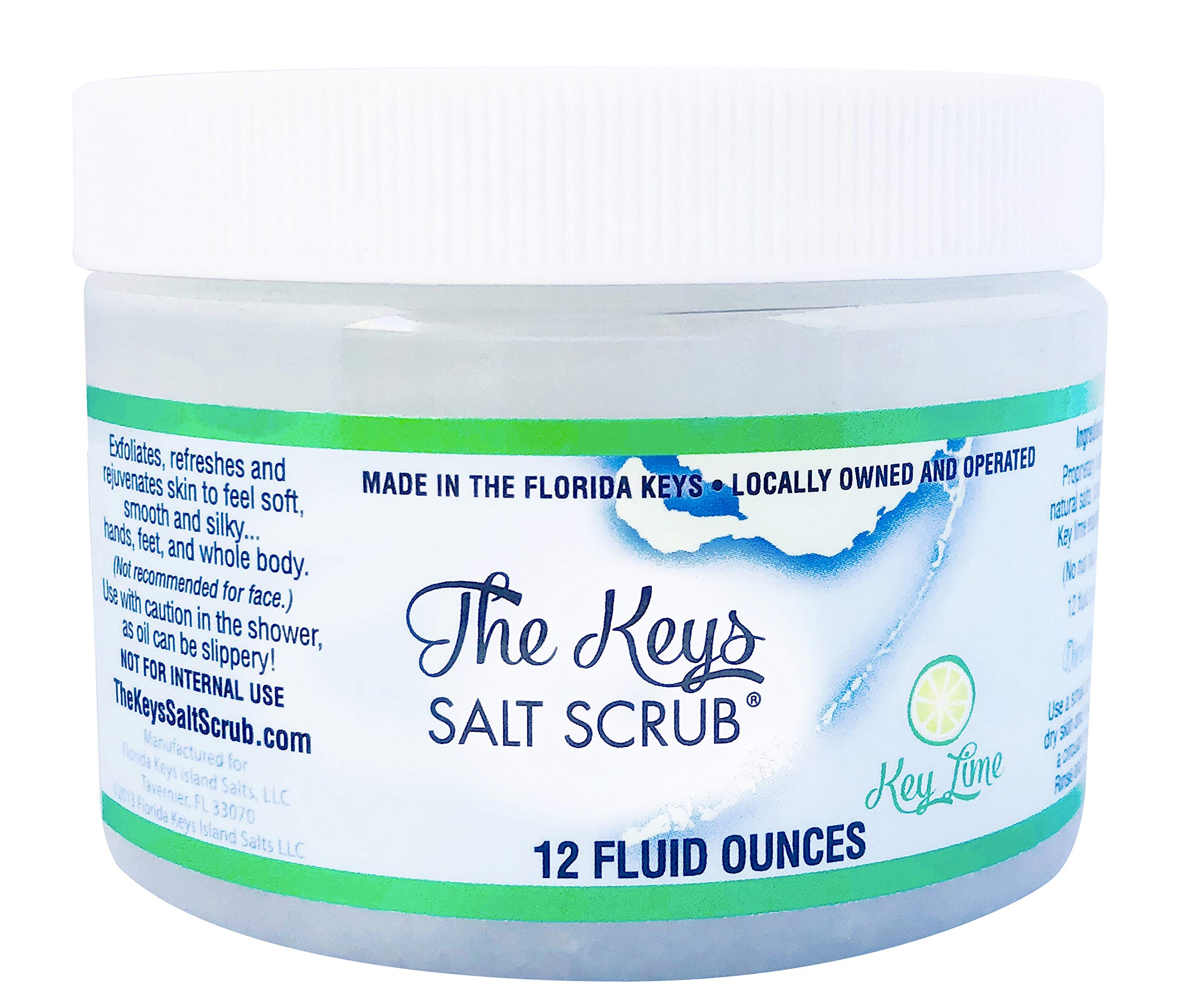 The Keys Salt Scrub (Key Lime, 12 Pack)