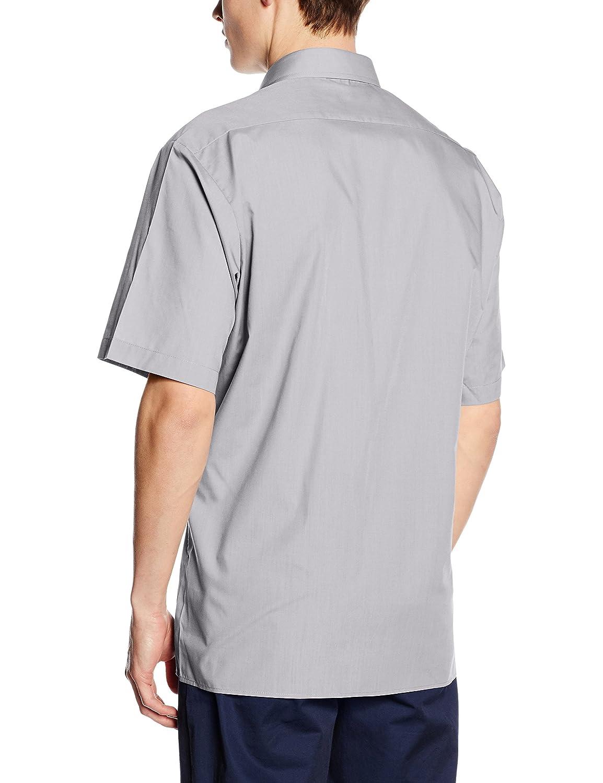 Premier Mens Short Sleeve Formal Poplin Plain Work Shirt
