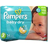 Pampers Baby Dry Diapers - Size 2-34 ct