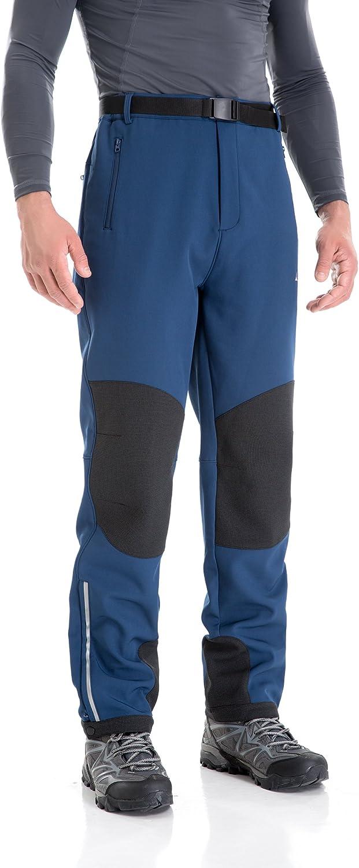 con Aislamiento t/érmico de Nieve Resistente al Viento U.mslady Pantalones de Invierno con Forro Polar y Forro Polar para Hombre