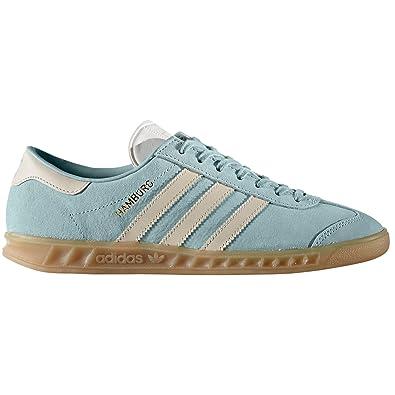 adidas Hambourg et les 1 37 Bleu Rose Sneaker original pour femmes ggwBqrO
