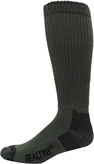 Realtree AP Men's Non-Binding Boot Socks (1-Pair), Olive, Large Carolina Hoisery 9746