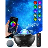 Galaxy Projector Star Projector Skylight Night Light for Bedroom Sky Lite Projector with Music Speaker and Remote…