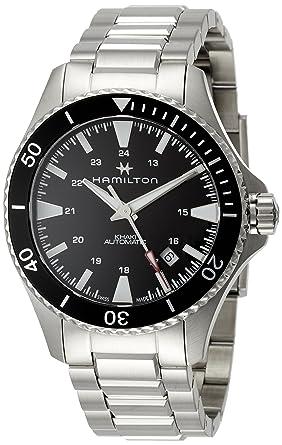Herren Automatik 40mm Armbanduhr Hamilton Edelstahl Armband Analog FTl1JcK3