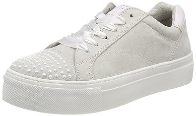 23741, Sneakers Basses Femme, Blanc (White Comb), 39 EUMarco Tozzi