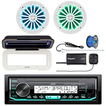 JVC kd-x35mbs Marine AM/FM Radio Bluetooth receptor SiriusXM ...