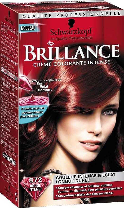 Schwarzkopf Brillance – Coloración permanente – rojo Intense 872