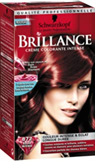 schwarzkopf brillance coloration permanente rouge intense 872 - Coloration Rouge Sans Ammoniaque