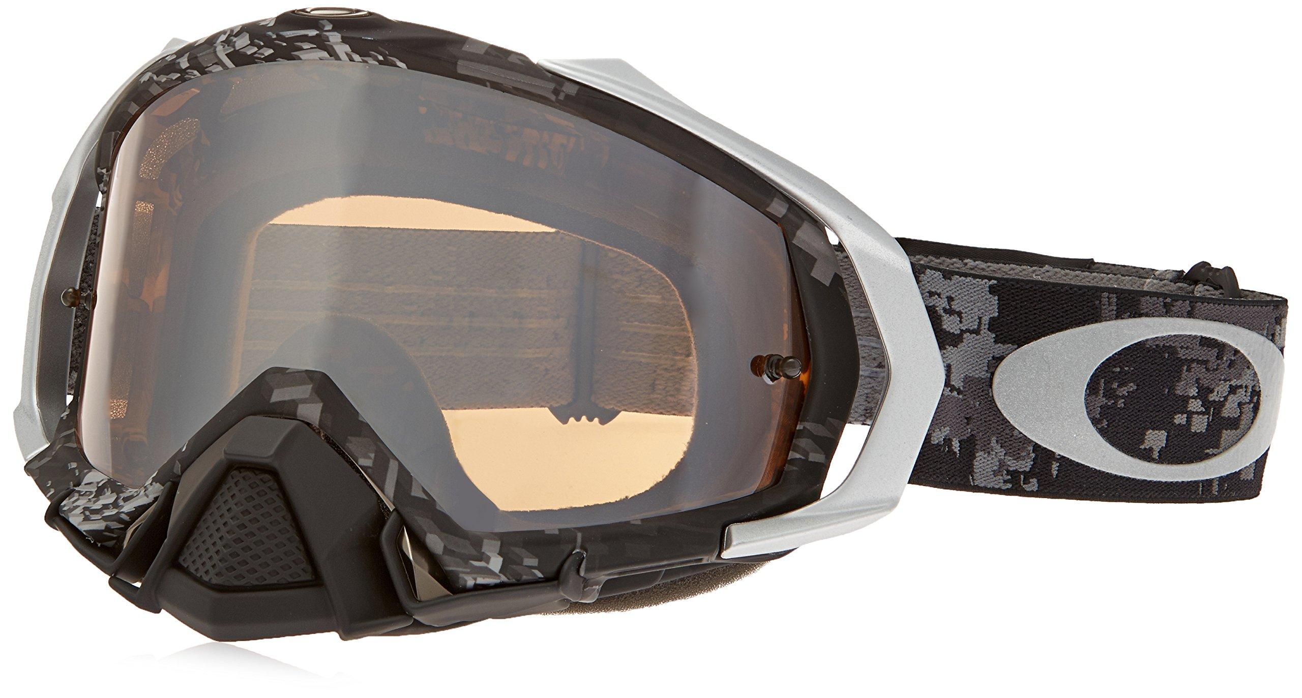 Oakley Mayhem MX Men's Goggles (Stewart Stealth Camo Frame/Black Iridium Lens)