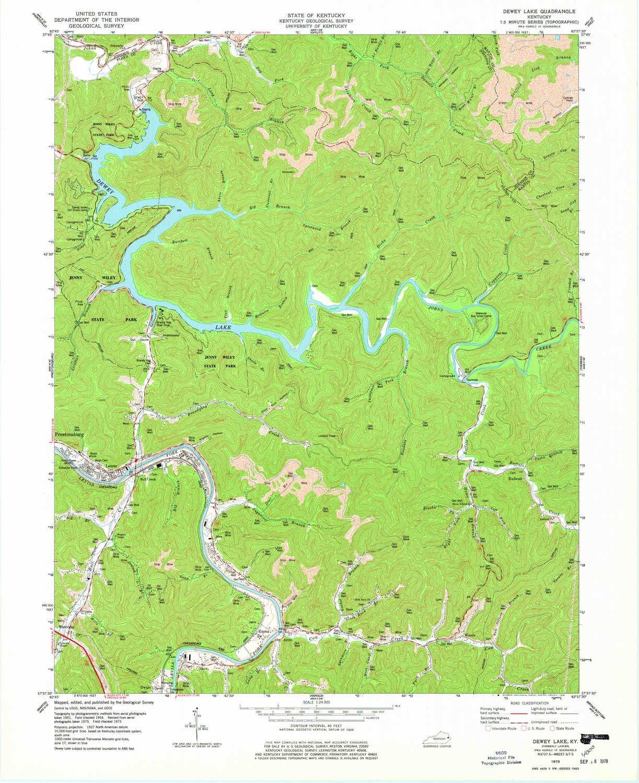 Amazon Com Yellowmaps Dewey Lake Ky Topo Map 1 24000 Scale 7 5 X
