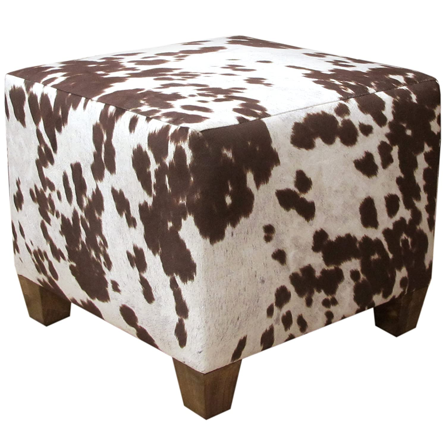 klteya in product ottoman and white cowhide black round large decor leather l bare