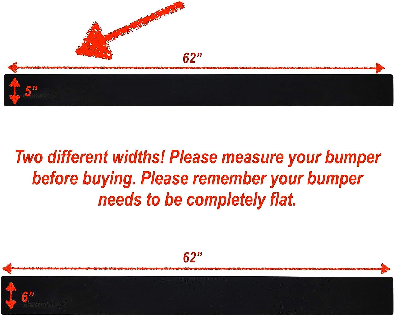BumperX 6 Width Bumper Repair Alternative Bumper Protection /& Guard Protect Your Rear car Bumper Peel /& Stick Rubber Bumper Band aid