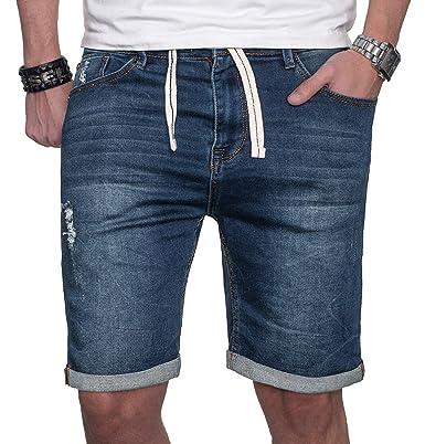 große Auswahl an Farben und Designs Kauf authentisch Geschicktes Design Sublevel Herren Jeans Shorts Kurze Hose Bermuda Sweathose Sommer Short Slim