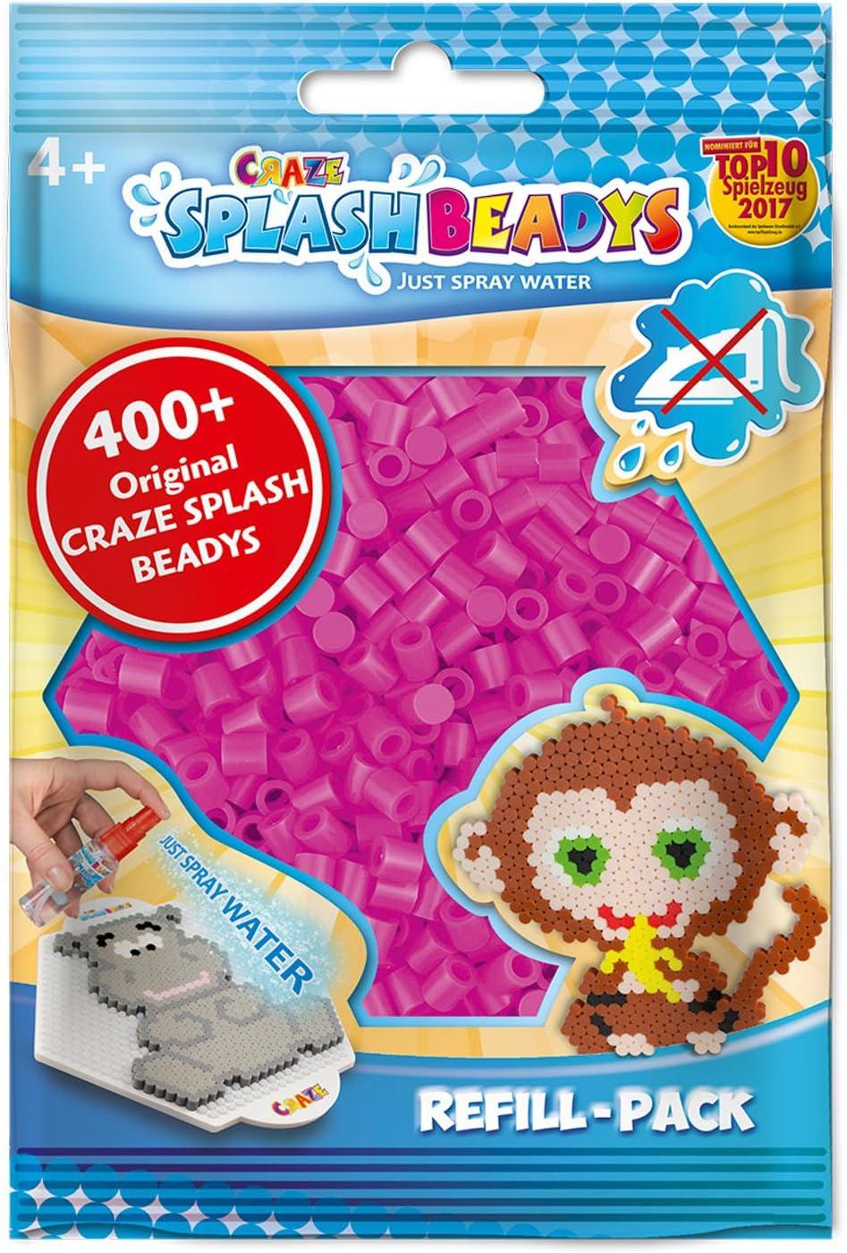 CRAZE fusibles Fuse Beads Perlen Splash BEADYS Recarga de Perlas de reemplazo Juego de Recambio de Cuentas de artesanía de Color Rosa 11607, Individual, Rosado: Amazon.es: Juguetes y juegos