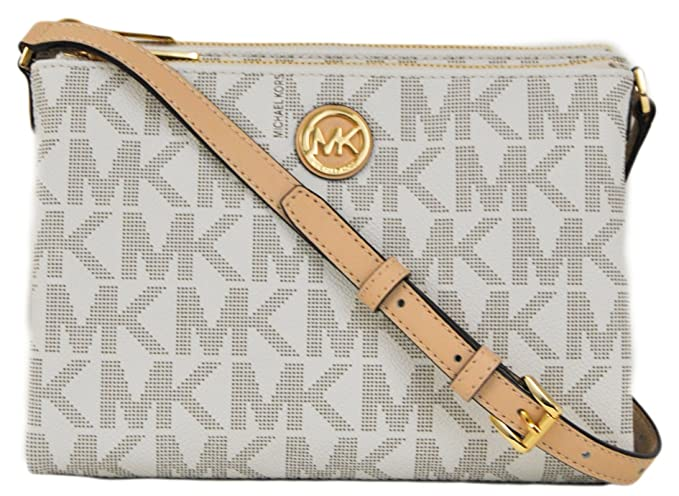 5dce39ef9e72 Amazon.com: Michael Kors Signature Fulton EW Crossbody Bag PVC Vanilla:  Clothing