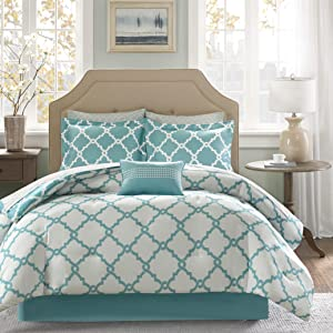 Empire Home Galaxy Oversized Comforter Set Soft 10 Piece Bed in a Bag 4 Colors Sale! (Queen Size, Turquoise)