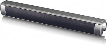 ICES ISB de 020Mini Barra de Sonido Bluetooth (2x 5W RMS), Incluye Cable Micro USB, AUX de Entrada y Micro SD Lector de Tarjetas