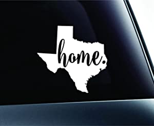 #3 Home Texas State Austin Symbol Sticker Decal Car Truck Window Computer Laptop (White)