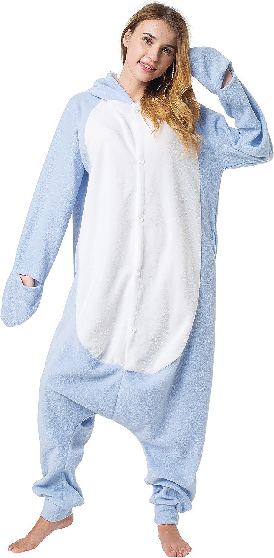 Katara-(10+ Modelos) Kigurumi Pijamas Disfraz de Animal Halloween Carnaval, Adultos, Color tiburón azul claro, Talla 175-185cm (1744)