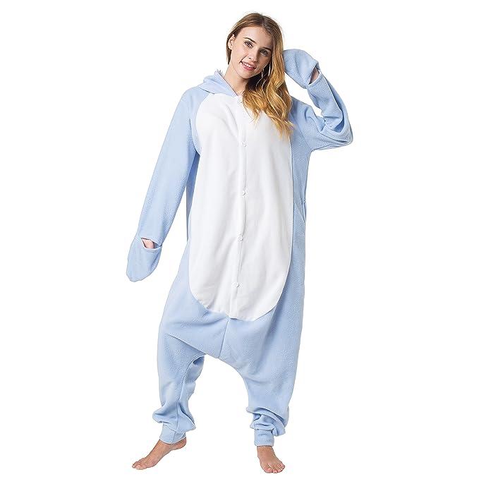 Katara 1744 - Kigurumi Pijamas Disfraz de Animal - Traje de Noche con Capucha - Adultos Unisexo - Tiburón L: Amazon.es: Juguetes y juegos