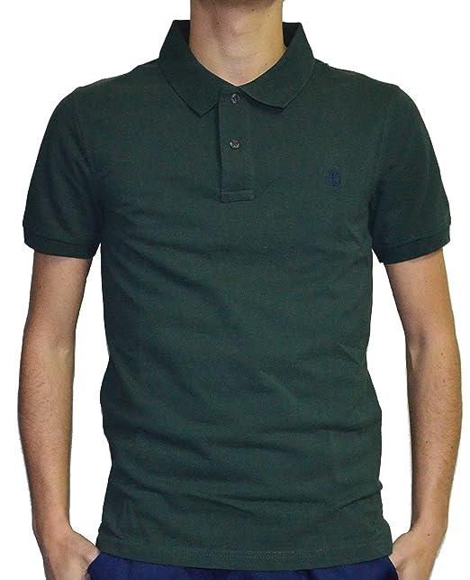 Timberland SS Slim Millers Polo de Hombre Green: Amazon.es: Ropa y ...