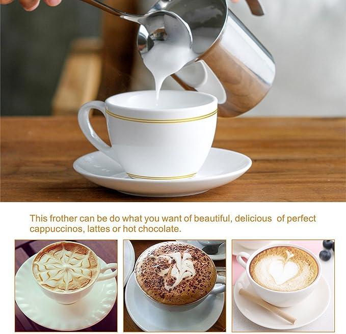 Montalatte Latte Cappuccino Caffe/' Acciaio Inox 800 ml con Manico Max Casa