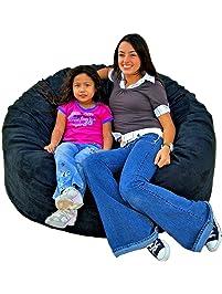 Cozy Sack 4 Feet Bean Bag Chair Large Black
