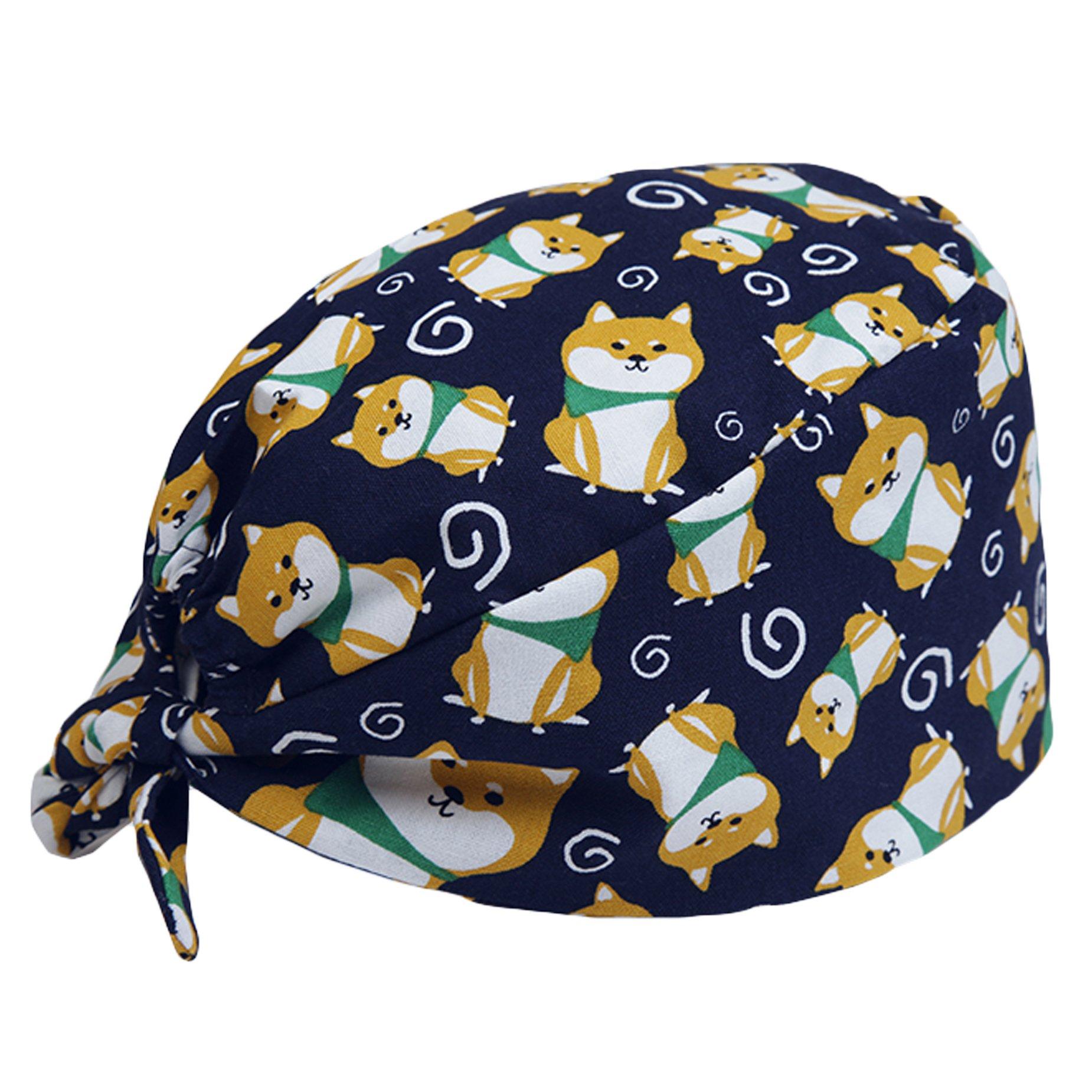Scrub Cap Surgical Scrub Cap Medical Doctor Bouffant Turban Cap with Sweatband Scrub Hat for Women/Men by Funcl