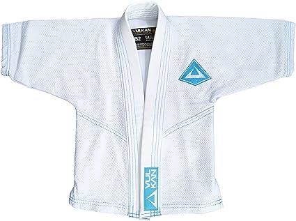 Kids // Youth BJJ Uniform Jiu Jitsu Gi 100/% Cotton Blue w Flags Free Shipping