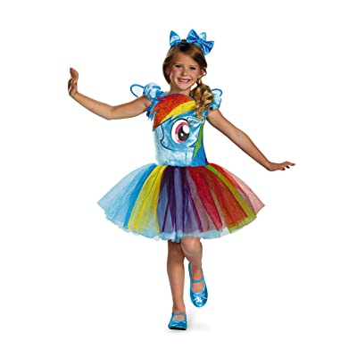 Hasbro's My Little Pony Rainbow Dash Tutu Prestige Girls Costume, Small/4-6x: Toys & Games