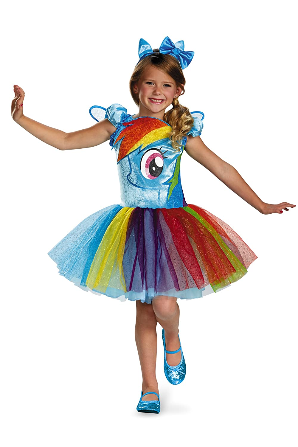 Disguise Hasbro's My Little Pony Rainbow Dash Tutu Prestige Girls Costume, Small/4-6x