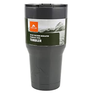 Gun Metal Gray - Ozark Trail 30-Ounce Double-Wall, Vacuum-Sealed Tumbler