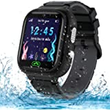 Kids Smart Watch Phone,IP67 Waterproof GPS Tracker Smartwatch for Kids, HD Touch Screen Game Watch with SOS Call/Voice Chat/C