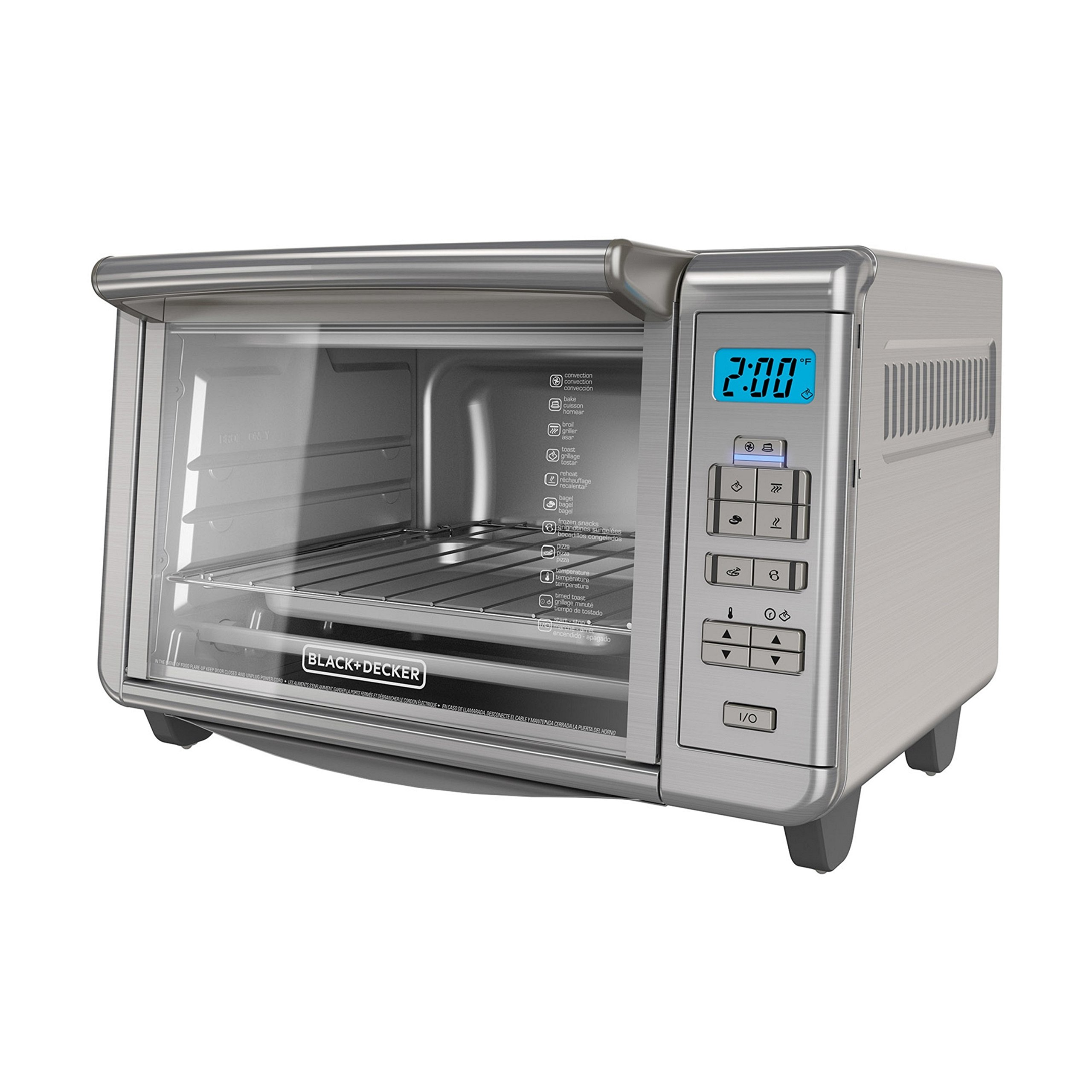 BLACK+DECKER 6-Slice Digital Convection Countertop Toaster Oven, Stainless Steel, TO3280SSD