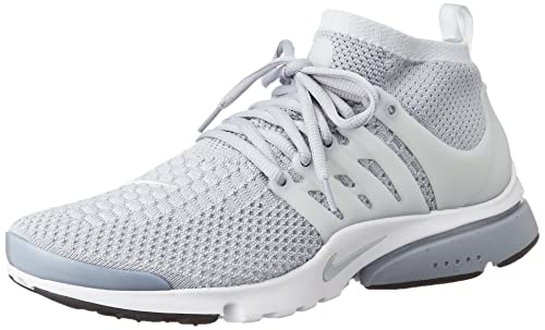 quality design 46e0e 19687 Nike Men s Air Presto Flyknit Ultra Running Shoe Wolf Grey Pr Pltnm White