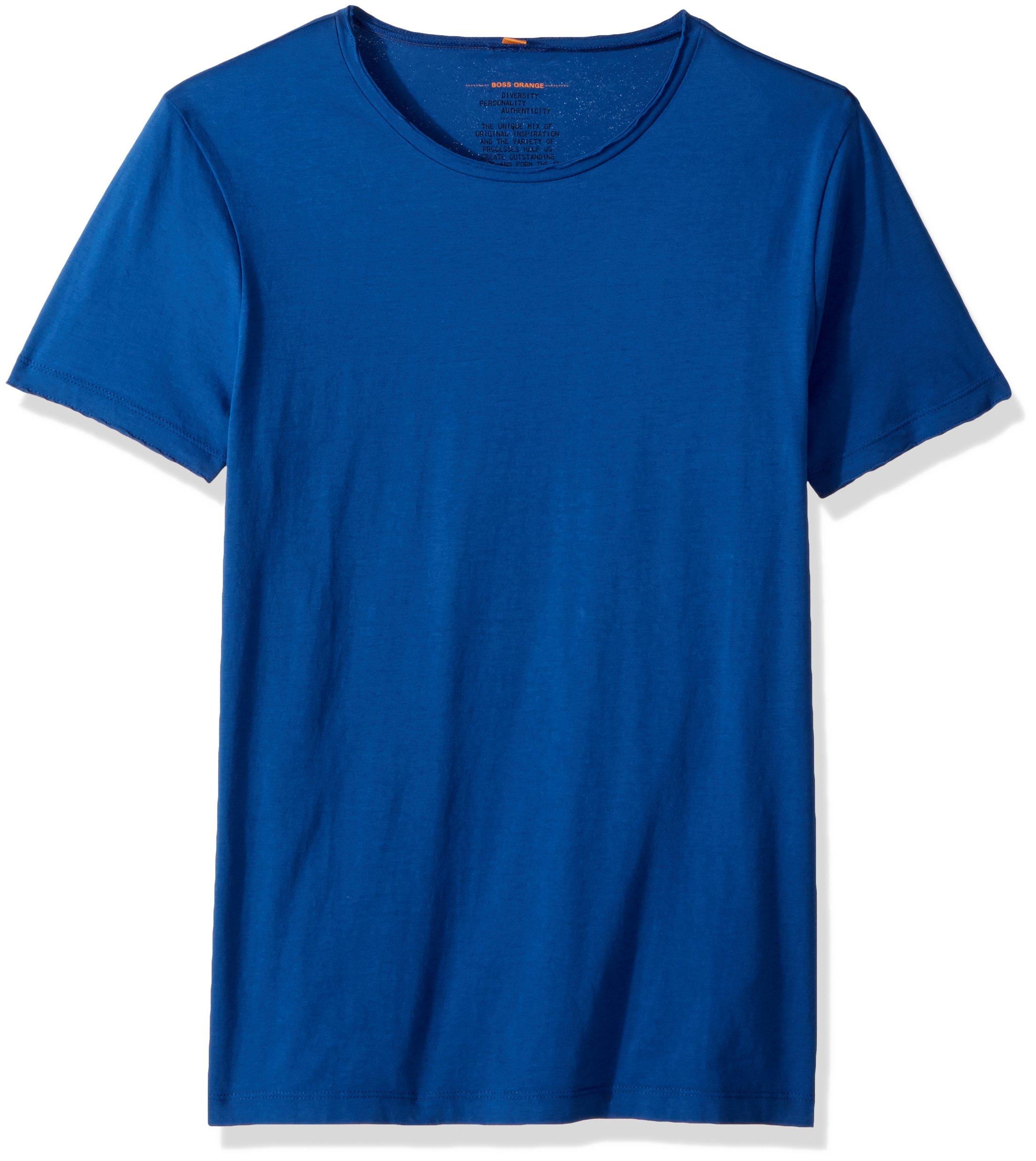 BOSS Orange Men's Tooles Crew Neck T-Shirt, Medium Blue, Medium